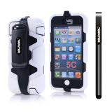 Apple Iphone 5C Case Silicone With Hard Pc Double Color Clips Protective Case For Apple Iphone 5C(White)