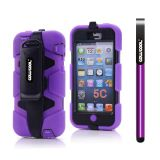 Apple Iphone 5C Case Silicone With Hard Pc Double Color Clips Protective Case For Apple Iphone 5C(Purple)
