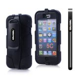 Apple Iphone 5C Case Silicone With Hard Pc Double Color Clips Protective Case For Apple Iphone 5C(Black)
