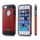 Apple Iphone 5 5S Case Pu Leather Crazy Maghreb Single Layer Protective Case For Apple Iphone 5 5S(Brown with Black)