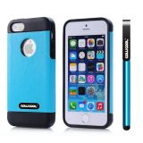 Apple Iphone 5 5S Case Pu Leather Crazy Maghreb Single Layer Protective Case For Apple Iphone 5 5S(Sky Blue with Black)
