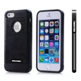 Apple Iphone 5 5S Case Pu Leather Crazy Maghreb Single Layer Protective Case For Apple Iphone 5 5S(Black with Black)