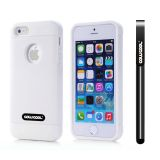Apple Iphone 5 5S Case Pu Leather Crazy Maghreb Single Layer Protective Case For Apple Iphone 5 5S(White with White)