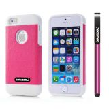 Apple Iphone 5 5S Case Pu Leather Crazy Maghreb Single Layer Protective Case For Apple Iphone 5 5S(Pink with White)