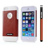 Apple Iphone 5 5S Case Pu Leather Crazy Maghreb Single Layer Protective Case For Apple Iphone 5 5S(Brown with White)