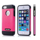Apple Iphone 5 5S Case Pu Leather Crazy Maghreb Single Layer Protective Case For Apple Iphone 5 5S(Pink with Black)
