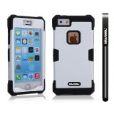 Apple Iphone 5 5S Case Luminous Silicone With Hard Pc Double Color 2in1 Hybrid High Impact Protective Case For Apple Iphone 5 5S(Black with White)