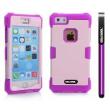 Apple Iphone 5 5S Case Luminous Silicone With Hard Pc Double Color 2in1 Hybrid High Impact Protective Case For Apple Iphone 5 5S(Purple with violet)
