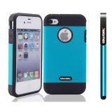 Apple Iphone 4 4S Case Tpu With Pc Double Color 2in1 Hybrid High Impact Protective Case For Apple Iphone 5 5S(Sky Blue)
