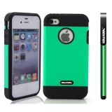 Apple Iphone 4 4S Case Tpu With Pc Double Color 2in1 Hybrid High Impact Protective Case For Apple Iphone 5 5S(Green)