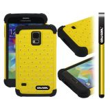 Samsung N9600 Galaxys5 Case Silicone With Hard Pc Starry Sky Pattern Glitter Studded Diamond 3in1 Hybrid High Impact Protective Case For(Yellow)