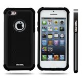 Apple Iphone 5C Case Silicone With Hard Pc Football Texture 2in1 Hybrid High Impact Protective Case For Apple Iphone 5C(Black)