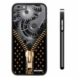 Apple iphone 6 4.7 inch Case Hard PC Gear zipper Black Shell Single Layer Protective Case (1)