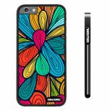 Apple iphone 6 4.7 inch Case Hard PC Colorful Petal Plaid Totem Black Shell Single Layer Protective Case (13)