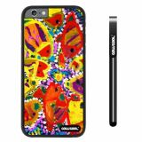 Apple iphone 6 4.7 inch Case Hard PC Colorful kid Watercolor Fish Competition food Black Shell Single Layer Protective Case (8)
