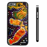 Apple iphone 6 4.7 inch Case Hard PC Colorful kid Watercolor Fish Competition food Black Shell Single Layer Protective Case (19)