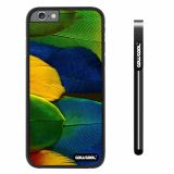 Apple iphone 6 4.7 inch Case Hard PC Colorful feathers Black Shell Single Layer Protective Case (3)