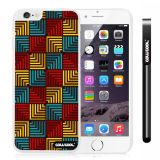 Apple Iphone 6 Plus 5.5 Inch Case Hard PC Square matrix square box stripes Single Layer Protective Case (Style1)