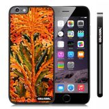 Apple Iphone 6 Plus 5.5 Inch Case Hard PC oil painting Style Flower plants Black Shell Single Layer Protective Case (Style1)