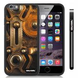 Apple iphone 6 4.7 Inch Soft Silicone Retro Gear machinery Black Shell Single Layer Protective Case (8)