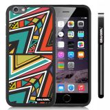 Apple iphone 6 4.7 Inch Soft Silicone Colorful Triangle Interlaced Totem Black Shell Single Layer Protective Case (8)