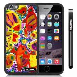 Apple iphone 6 4.7 Inch Soft Silicone Colorful kid Watercolor Fish Competition food Black Shell Single Layer Protective Case (8)