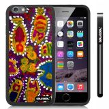 Apple iphone 6 4.7 Inch Soft Silicone Colorful kid Watercolor Fish Competition food Black Shell Single Layer Protective Case (9)