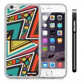 Apple iphone 6 4.7 Inch Soft Silicone Colorful Triangle Interlaced Totem Transparent Shell Single Layer Protective Case (8)