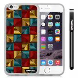 Apple iphone 6 4.7 Inch Soft Silicone Square matrix square box stripes Single Layer Protective Case (Style1)