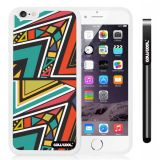 Apple iphone 6 4.7 Inch Soft Silicone Colorful Triangle Interlaced Totem White Shell Single Layer Protective Case (8)