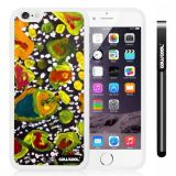 Apple iphone 6 4.7 Inch Soft Silicone Colorful kid Watercolor Fish Competition food White Shell Single Layer Protective Case (21)