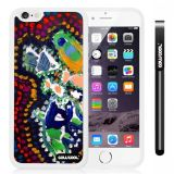 Apple iphone 6 4.7 Inch Soft Silicone Colorful kid Watercolor Fish Competition food White Shell Single Layer Protective Case (24)