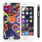 Apple iphone 6 4.7 Inch Soft Silicone Colorful kid Watercolor Fish Competition food White Shell Single Layer Protective Case (26)