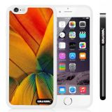 Apple iphone 6 4.7 Inch Soft Silicone Colorful birds feathers White Shell Single Layer Protective Case (2)