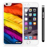Apple iphone 6 4.7 Inch Soft Silicone bright birds feathers White Shell Single Layer Protective Case (4)