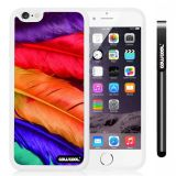Apple iphone 6 4.7 Inch Soft Silicone perfect birds feathers White Shell Single Layer Protective Case (5)