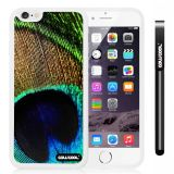 Apple iphone 6 4.7 Inch Soft Silicone peacocks feathers White Shell Single Layer Protective Case (9)