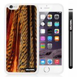 Apple iphone 6 4.7 Inch Soft Silicone parrots feathers White Shell Single Layer Protective Case (10)