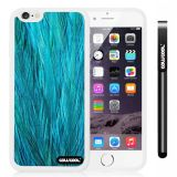 Apple iphone 6 4.7 Inch Soft Silicone Fashion Design Blue feathers White Shell Single Layer Protective Case (11)