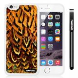 Apple iphone 6 4.7 Inch Soft Silicone Colorful feathers White Shell Single Layer Protective Case (12)