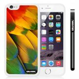 Apple iphone 6 4.7 Inch Soft Silicone Wings feathers White Shell Single Layer Protective Case (13)