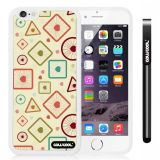 Apple iphone 6 4.7 Inch Soft Silicone complex concentric circle triangle Single Layer Protective Case (Style2)