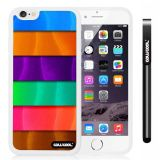 Apple iphone 6 4.7 Inch Soft Silicone Rainbow gradient texture White Shell Single Layer Protective Case (Style1)