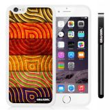Apple iphone 6 4.7 Inch Soft Silicone retro Stripe Texture White Shell Single Layer Protective Case (Style2)