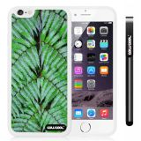 Apple iphone 6 4.7 Inch Soft Silicone Leaves and branches of bamboo White Shell Single Layer Protective Case (Style1)