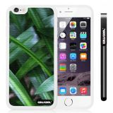 Apple iphone 6 4.7 Inch Soft Silicone Leaves and branches of bamboo White Shell Single Layer Protective Case (Style2)