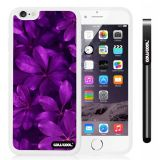 Apple iphone 6 4.7 Inch Soft Silicone Leaves and branches of bamboo White Shell Single Layer Protective Case (Style8)